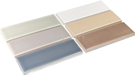 P0089 - Ceramic Tile Subway Tile, 6 Colors