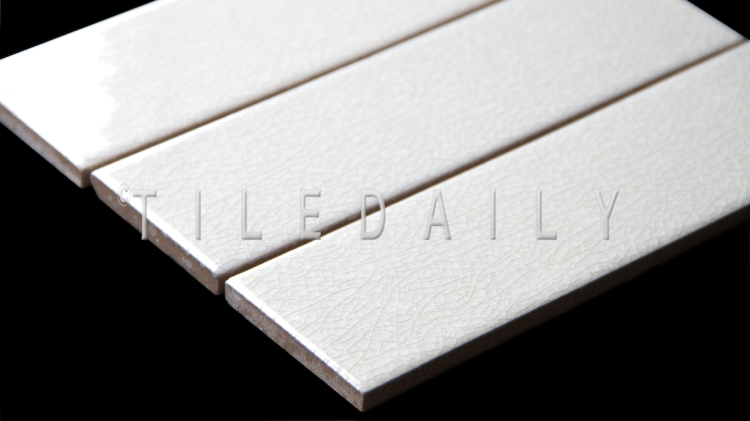 Oxford Crackle Subway Tile, White. Available in 2.5x8.5 & 4x12