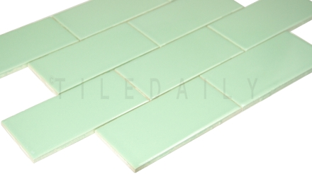 P0034MG - Ceramic Subway  Tile, Mint Green