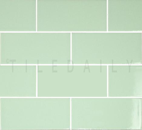 P0034MG - Ceramic Subway Tile, Mint Green