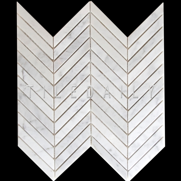 Beautiful Chevron Carrara Marble