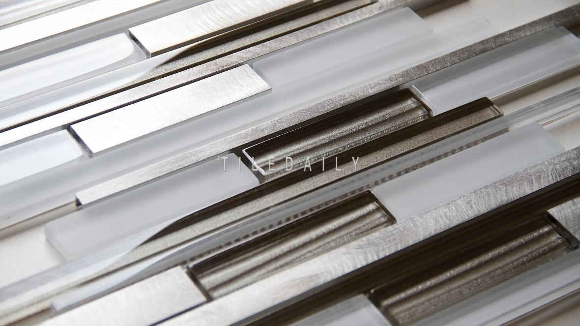 Alumina random bars glass mosaic
