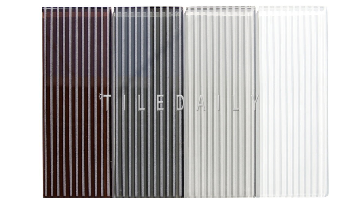 GM0132 - 4x12 Striped Subway Glass Tile, 4 Colors