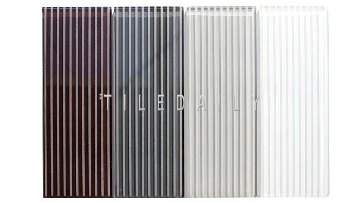 GM0132 - 4x12 Striped Subway Glass Tile, 4 Colors