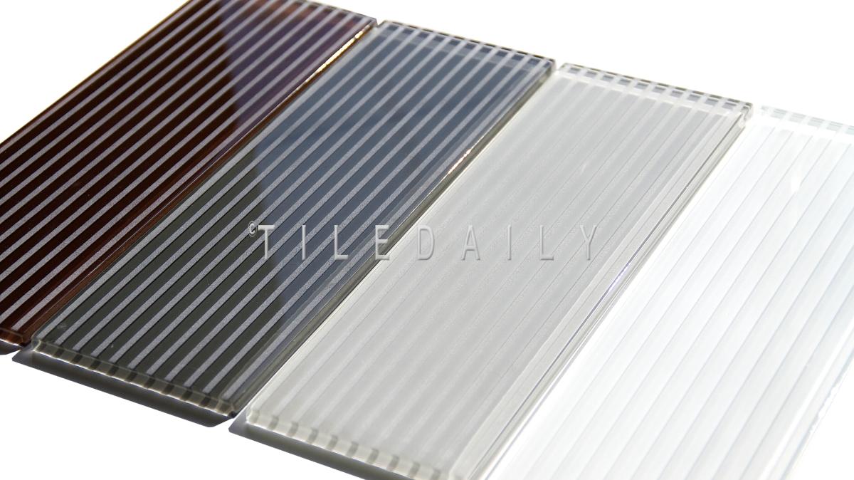 Striped Subway Glass Tile 4 Colors Tiledaily