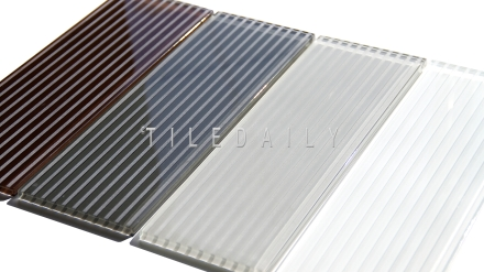 4x12 Striped Glass Tile
