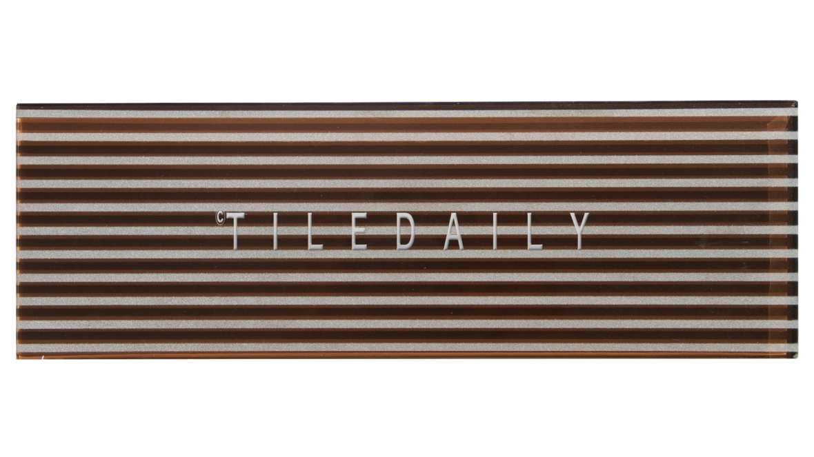 Brown Striped Subway Tile, GM0132BN, TileDaily