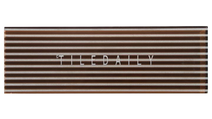 Brown Striped Subway Tile, GM0132BN, TileDaily