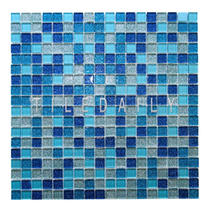 GM0133 - Glitter Glass Mosaic, Mix Blue