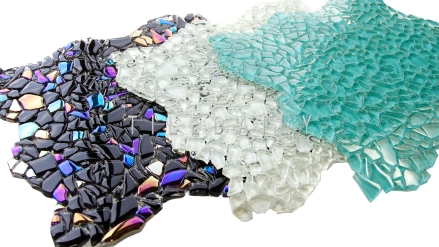 Crystal Jagged Glass Mosaic. Available in 3 Colors