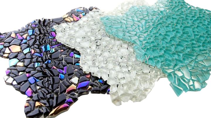 Jagged Crystal Glass Mosaic, 3Colors