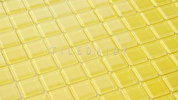 GM0135YW - 1x1 Yellow Glass Mosaic - SALE