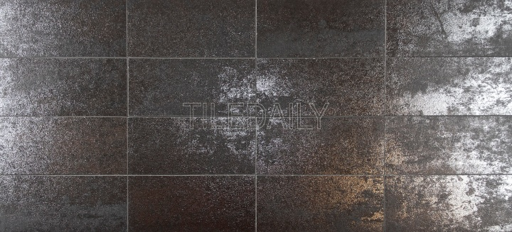 Rustic Iron Metallic Subway Porcelain Tile Available in 3x6 and 4x12 Subway Size - TileDaily