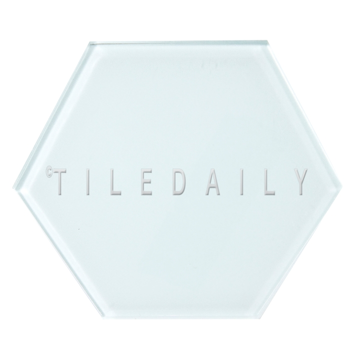 Ice Blue Mode Hexagon Glass Tile, TileDaily
