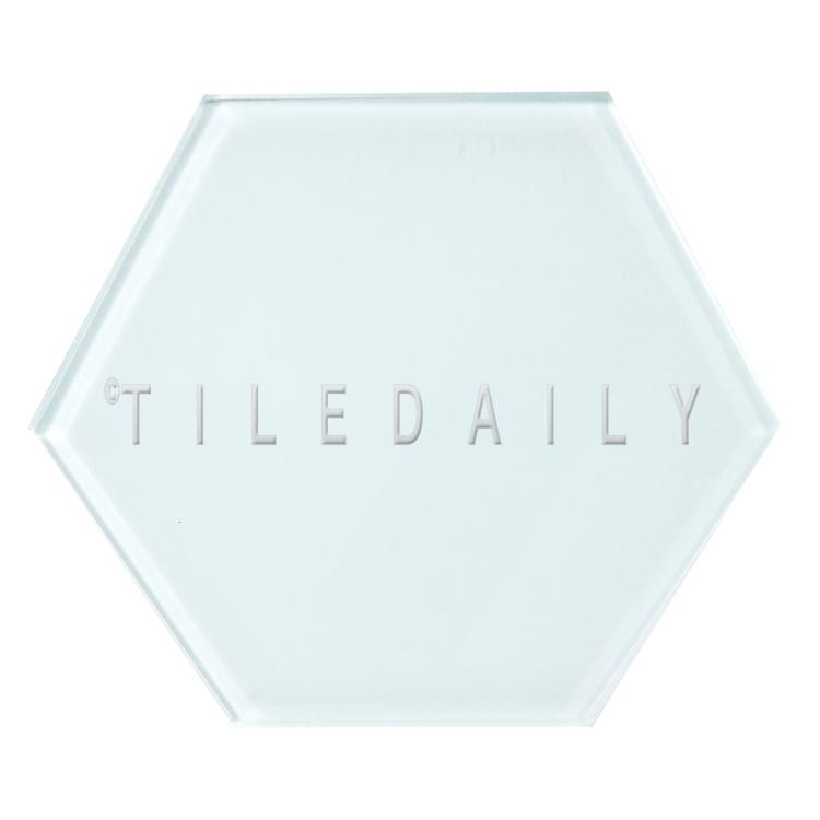 Ice Blue Mode Hexagon Glass Tile, TileDaily