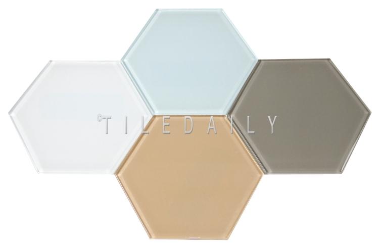 Mode Glass Hexagon Tile, TileDaily