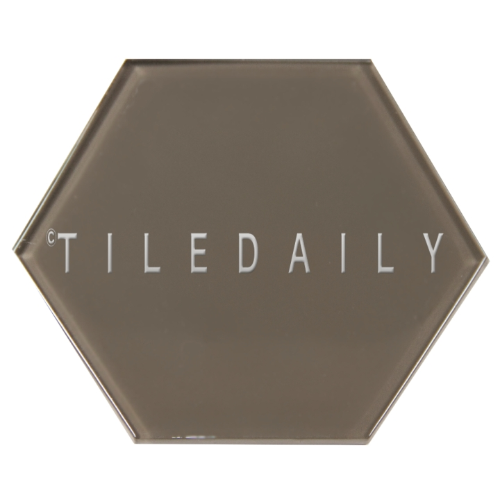 Taupe Mode Glass Hexagon Tile, TileDaily