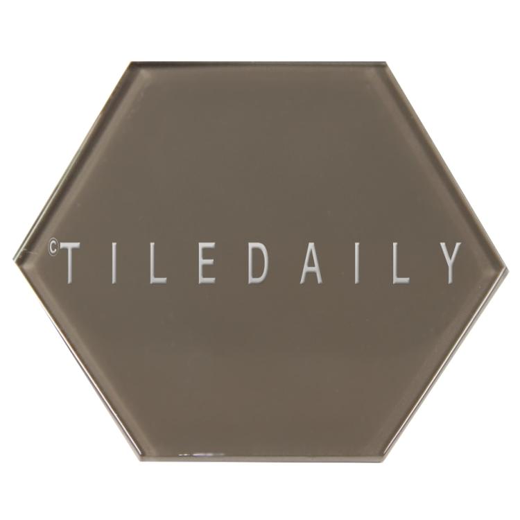 Taupe Mode Glass Hexagon Tile, TileDaily
