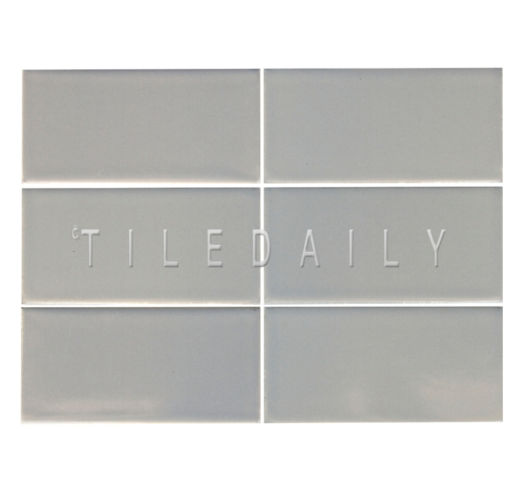 3x6 Cottage Series Ceramic Subway Tile, Gray. Available at TileDaily