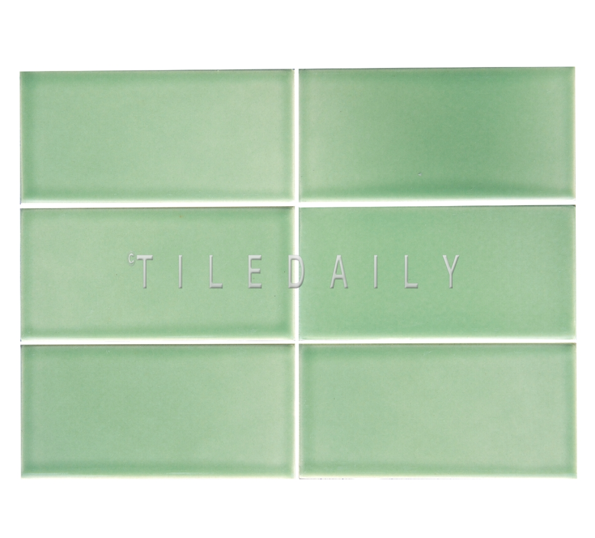 3x6 Cottage Series Ceramic Subway Tile, Apple Green. Available at TileDaily
