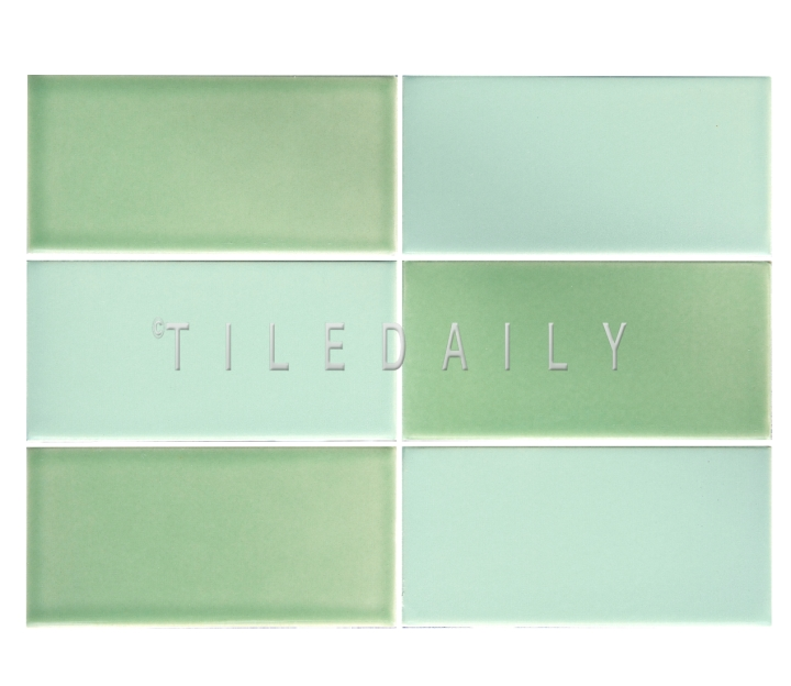 3x6 Cottage Series Ceramic Subway Tile, Mint Green and Apple Green. Available at TileDaily