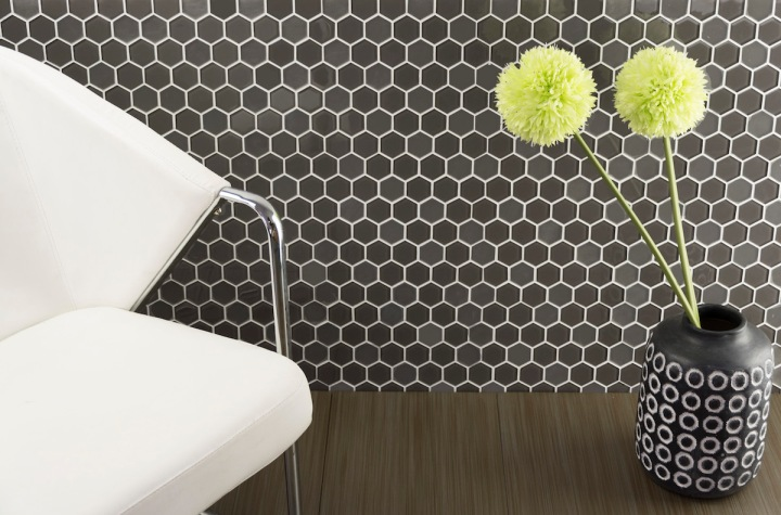Hexagon Glass Mosaic, 5 Colors