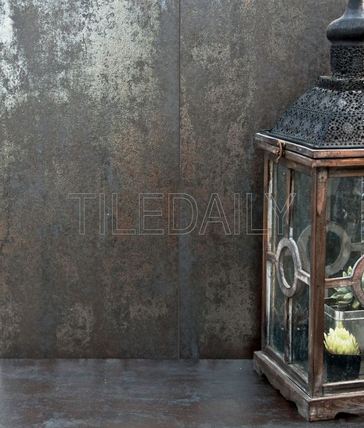 12x24 Metallic Iron Porcelain Tile at TileDaily