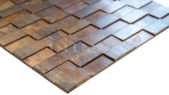 SS0008R - Rust Metal Split Face Mosaic