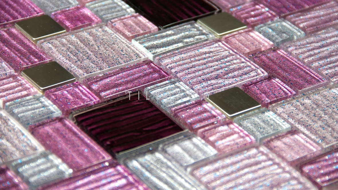 GM0139PE - Glitter Mix Glas Mosaic, Purple