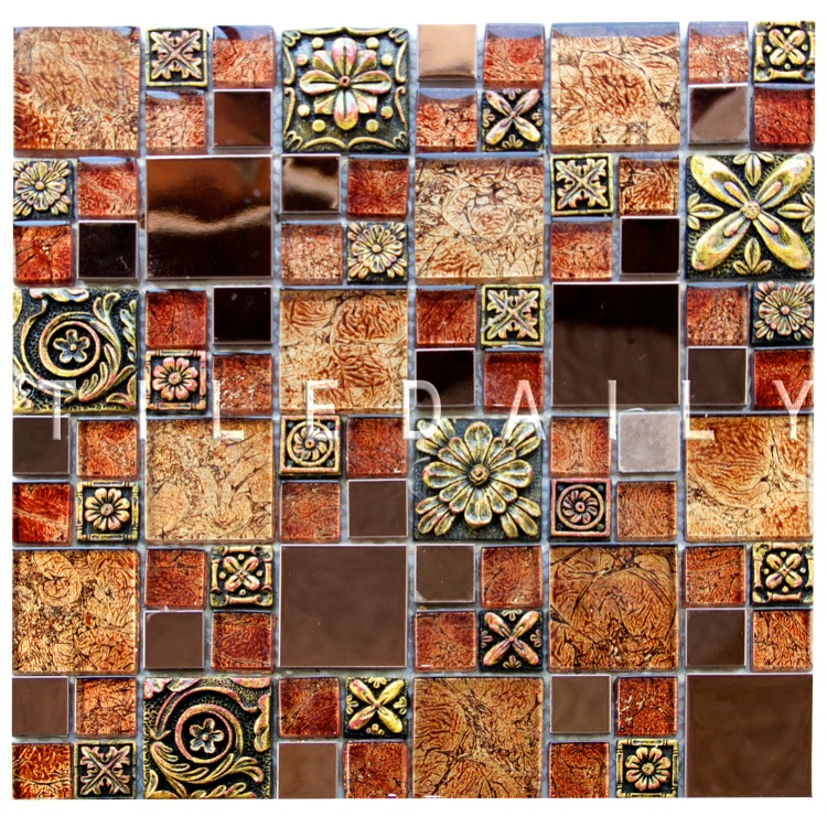 GM0136GD-2 Gold Medallion Mosaic