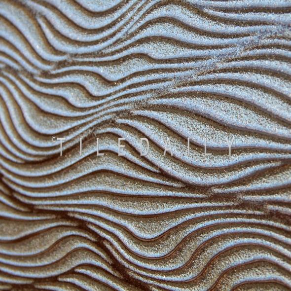 P0093SR - 12x24 Ripple Wave Porcelain Tile, Metallic Iron