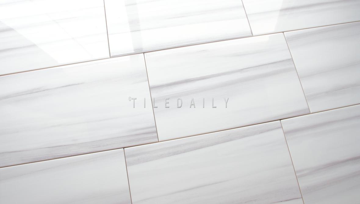 P0097 - 10x16 Ariston White Ceramic Tile