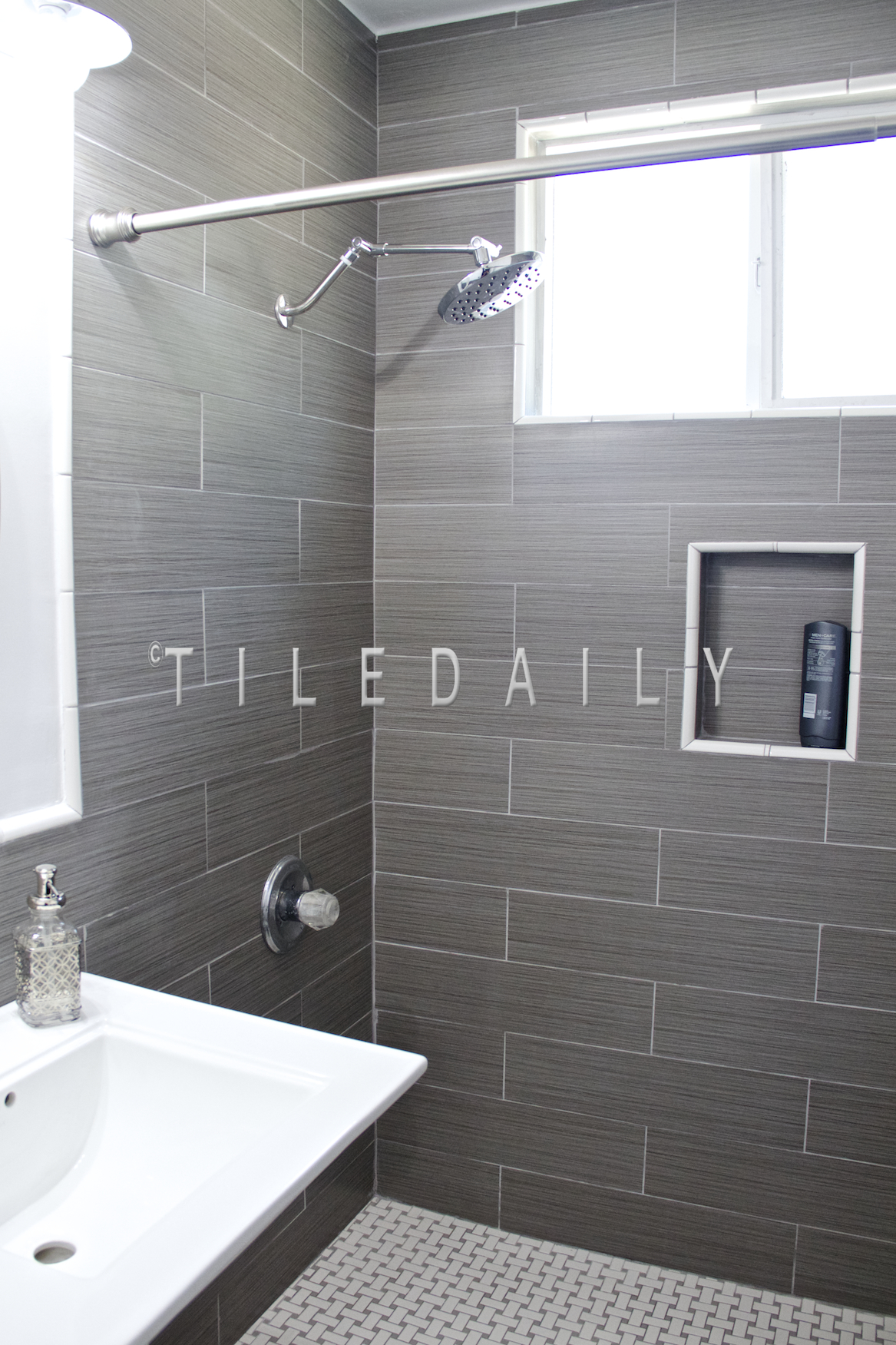 6x24 - Bamboo Pattern Porcelain Tile Grey