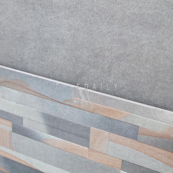 P0096 - 24x24 Sandstone Ledger Porcelain Tile. Also available in 24x24 solid grey tile