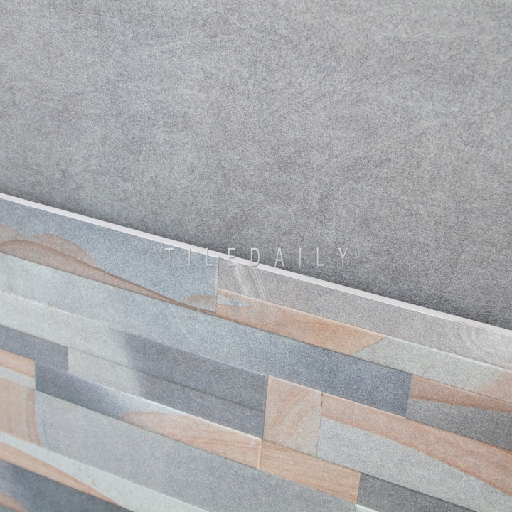 P0096 - 24x24 Sandstone Ledger Porcelain Tile. Also available in 24x24 solid grey tile