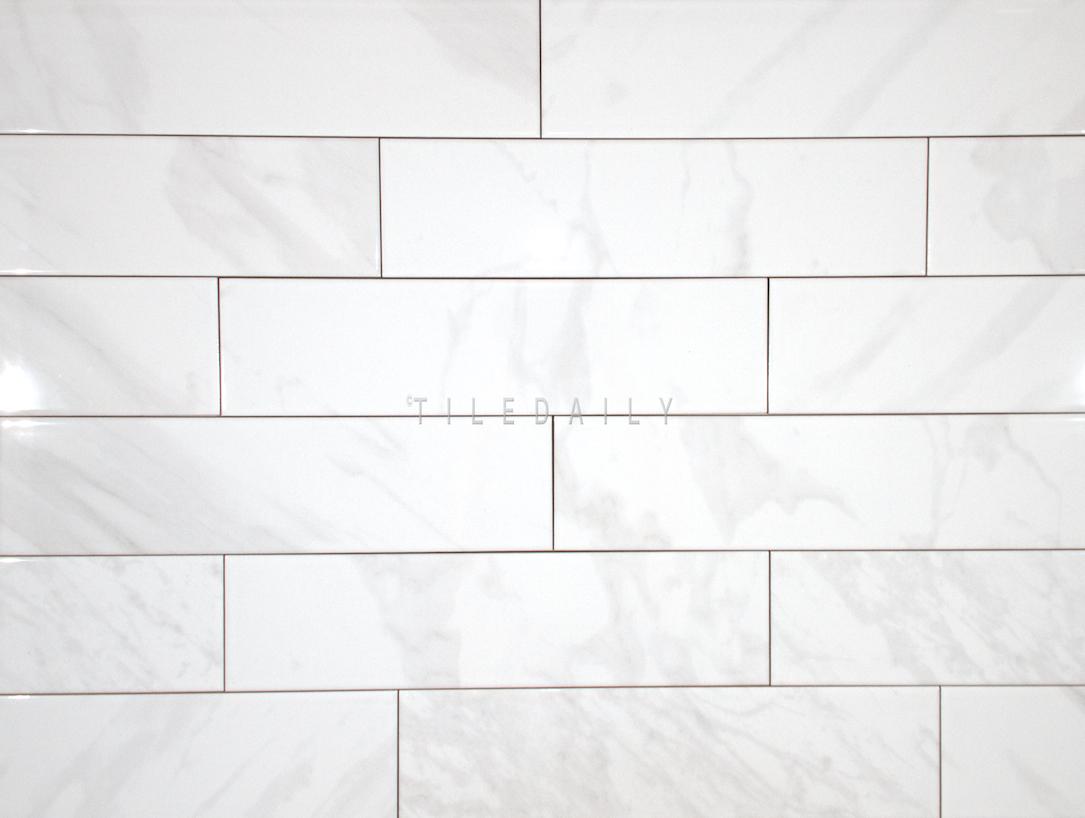 P0099WE - 4x16 White Carrara Ceramic Tile