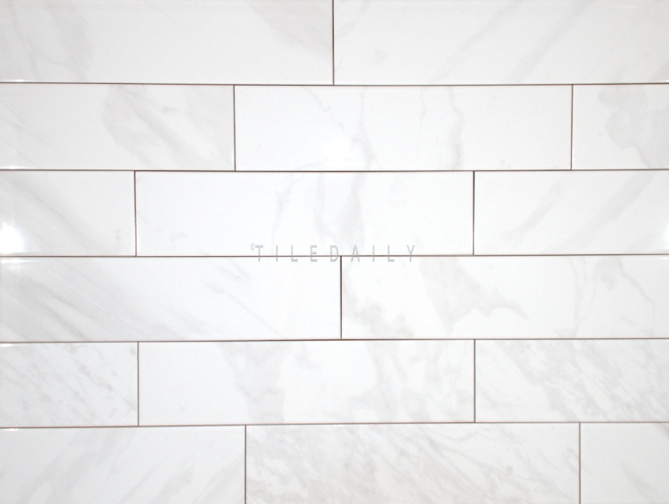 P0099WE - 4x16 White Carrara Ceramic Tile