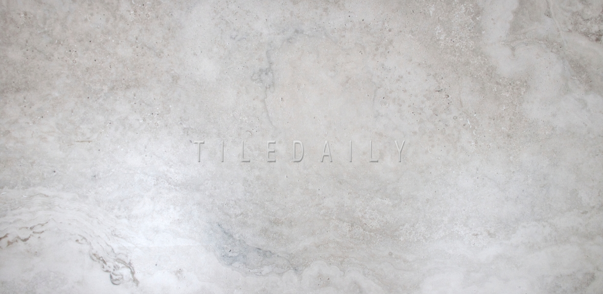 "18""x 35.5"" Grey Travertine Porcelain Tile"