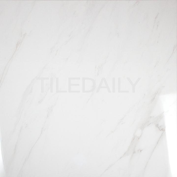 P0101 Carrara Porcelain Tile with light high definition veins, TileDaily.