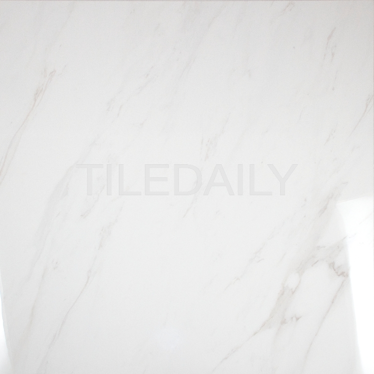 P0101 Carrara Porcelain Tile with light high definition veins, TileDaily.