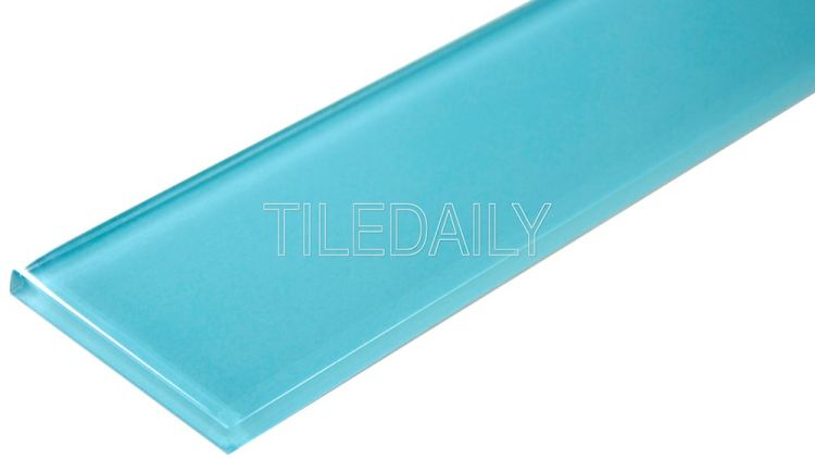 3x12 Turquoise Blue Glass Tile at TileDaily