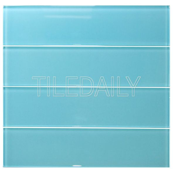 3x12 Turquoise Blue Glass Tile
