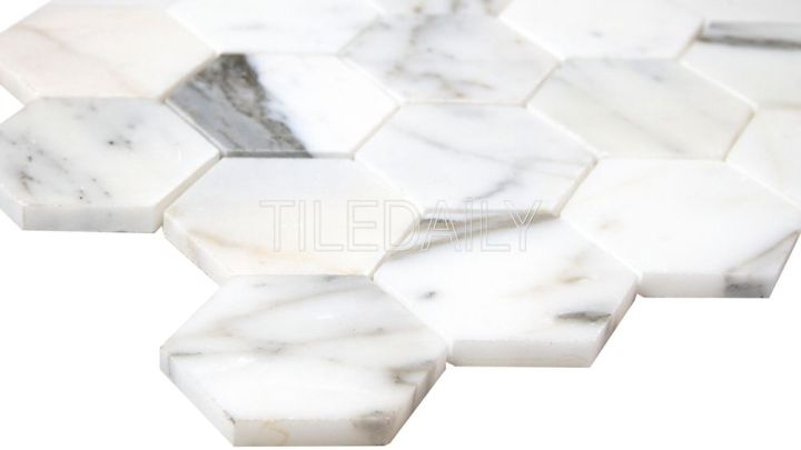 Calacatta Hexagon MarbleMosaic