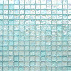 aqua blue glass mosaic tile for shower wall and kitchen backsplash