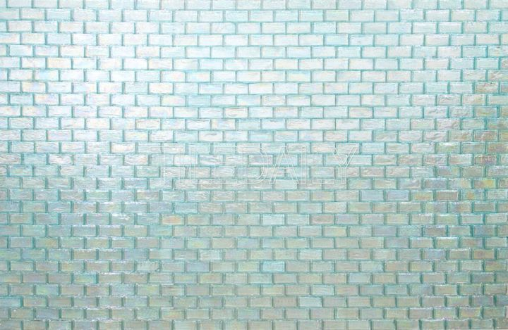 Iridescent Glass Mosaic, Light Green