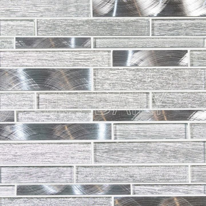 Alumina Series, Silver Glass Mosaic