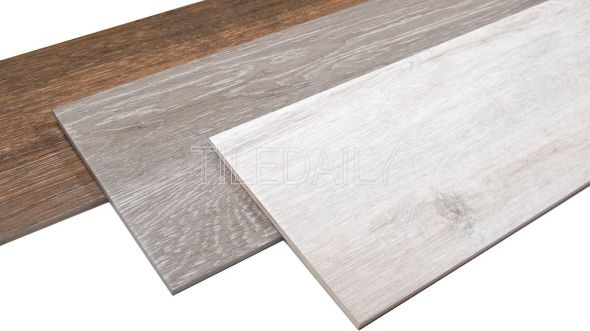 Birch Wood Porcelain Tile, 3 Colors. Available at TileDaily