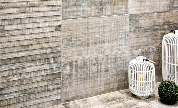 Barn wood porcelain tile from TileDaily.