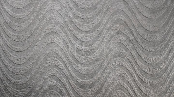 Greystone Porcelain Tile, Wave, dark grey in 18x36 size at TileDaily