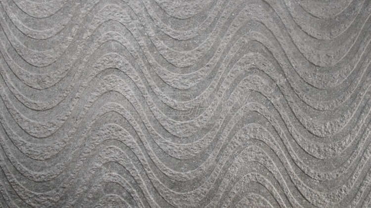 Greystone Porcelain Tile, Wave, dark grey in 18x36 size at TileDaily